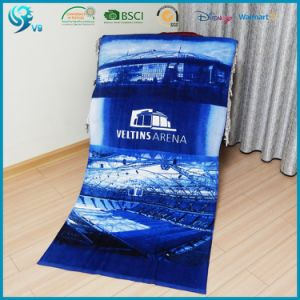 Custom Logo Cotton Printed Beach Towel pictures & photos
