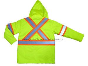 Men′s Hi-Viz Reflective Winter Padded Waterproof Windproof Safety Protective Workwear Jacket pictures & photos
