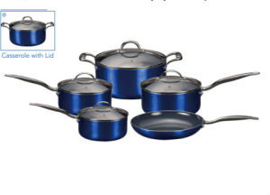 Nonstick Aluminum Pots and Pans with Metallic Coating pictures & photos