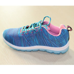 Injection Flyknit Lady Shoes, Women Sport Shoes pictures & photos