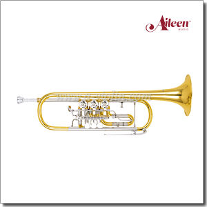 Rotary Valve Trumpet Bb Key Nickel Silver Slide (TP8800G) pictures & photos