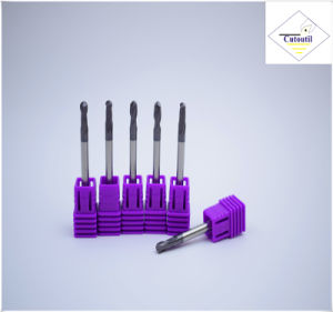 Cutoutil HRC45 Tialn Coating D7*20*D8*60 2f/4f for Steel CNC Machining Part  Square Carbide End Mills Tools pictures & photos