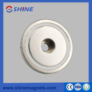 Neodymium Cup Magnet with Straight Hole pictures & photos