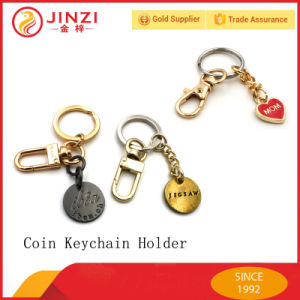Factory Supply OEM Custom Brand Logo Metal Coin Holder Keychain pictures & photos