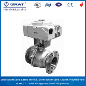 ASME 2PC Flange Ball Valve with Actuator pictures & photos