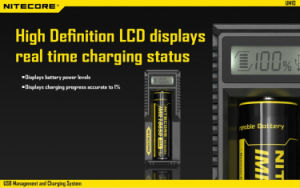 2016 Vivismoke Hot Selling Nitecore Um10 Smart Battery Charger LCD Universal USB Power Li-ion pictures & photos