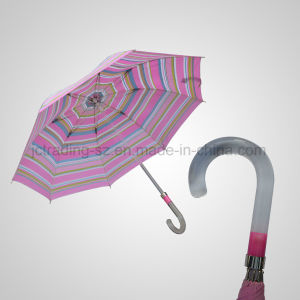 Transparent Acrylic Handle and Shaft Luxury Manual Rain/Sun Umbrella (JL-MQT140) pictures & photos