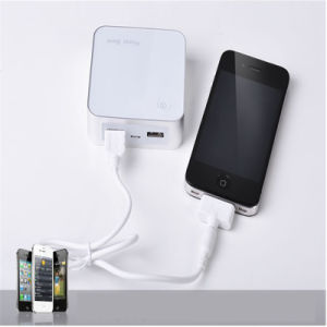 6000mAh Cube-Shaped Portable Power Bank with Display Mobile Phone Charger pictures & photos