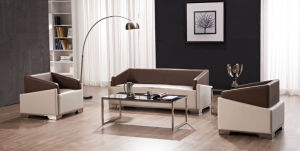 Modern Europe Design Steel Metal Leather Waiting Office Sofa (NS-S388) pictures & photos