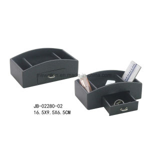 Black Leather Collection Box Storage Box