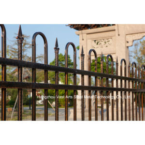 Customized Elegant Residential Industrial Decorative Galvanized Steel Fence pictures & photos