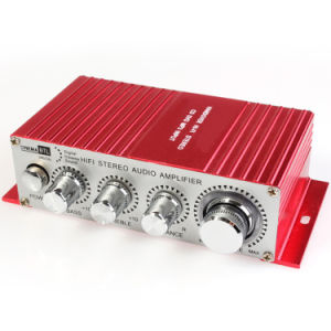 25W X 2 Alloy 2CH DC 12V USB Stereo Audio Player AMP Auto HiFi Digital Amplifier pictures & photos
