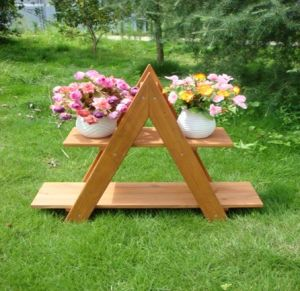 Beautiful Wooden Garden Plant Rack Flower Stand