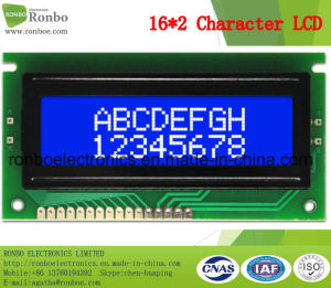 16X2 Stn Character LCM Module, MCU 8bit, Blue Backlight, COB LCM Monitor pictures & photos