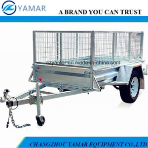 7X5 Box Semi Trailer with Cage pictures & photos