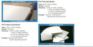 4X8 PVC Foam Sheet Plastic and Wood Composition Sheet for Building/Construction pictures & photos