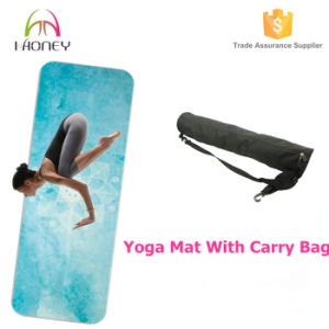 Combo 2in 1 Thin Yoga Mat, Wet Absorbent Yoga Towel with Custom Printing pictures & photos