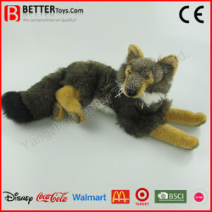 ASTM Realistic Stuffed Animals Soft Plush Wolf Toy pictures & photos