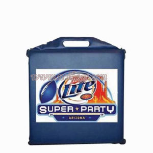 High Quality Outdoor Vinyl Waterproof Printed Square Stadium Seat Cushion