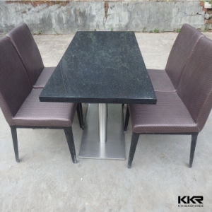 60′′ X 30′′ Black Stone Coffee Table pictures & photos
