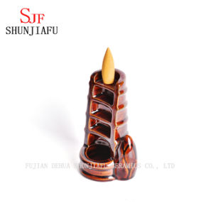 Home Decor Birthday Gift Souvenirs Smoke Backflow Cones Incense Tower Ceramic Censer Lotus Backflow Incense Burner pictures & photos
