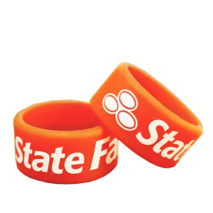 Custom Silicone Finger Bands Logo Print pictures & photos