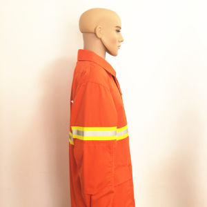 American Standard Flame Retardant ISO En11612 Cotton Firefighter Workwear pictures & photos
