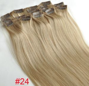 Remy Human Hair Clip Hair Extension pictures & photos