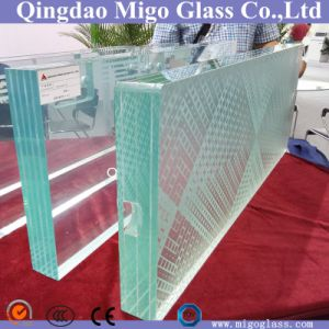 Triple Clear Sandblasted Tempered Laminated Glass Stair Treads pictures & photos
