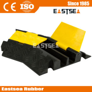 Black & Yellow Rubber 2 Channel Cable Protector pictures & photos