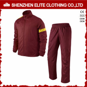 Custom Logo Wholeasle Sport Training Tracksuit Burgundy (ELTTI-25) pictures & photos