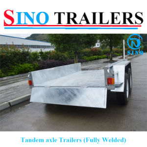 Best Quality 10X5FT Tandem Axle Fully Welded Box Trailer pictures & photos