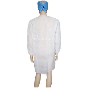 Disposable Lab Coats No Pockets White Different Sizes pictures & photos