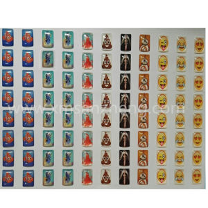 Clear Square PU Resin Dome Emoji Stickers pictures & photos
