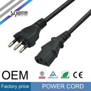 Sipu Hot Sell 3pin Copper Italy Power Cord for PC