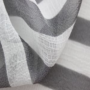 Stripe Graph Polyester Pleated Cloth and Crinkle Fabric for Fashion Garment pictures & photos