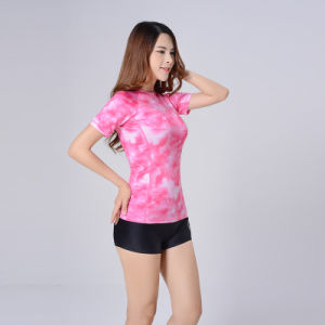 Women Camouflage Spandex MMA T-Shirt Track Suit Rash Guard pictures & photos