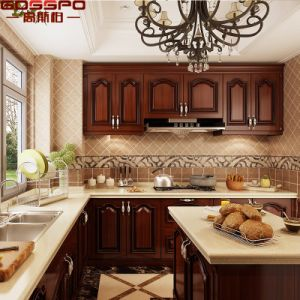 Home Use Luxury New Design Kitchen Cabinet (GSP10-010) pictures & photos