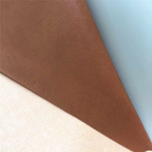 Synthetic Breathable PU Leather for Shoes Lining Hx-F1710 pictures & photos