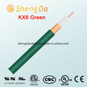 Kx6 Green Coaxial HD Satellite Cable for TV Antenna Wire pictures & photos