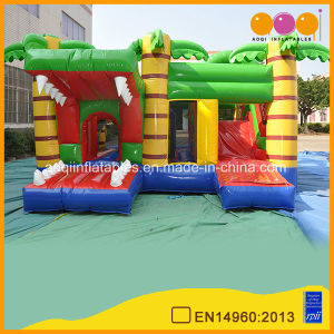 Popular Inflatable Crocodile Combo Fun City with Jump (AQ1324-10) pictures & photos