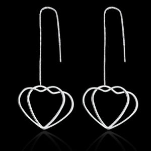 Heart Shape Pendant Fashion Silver Earrings Jewelry pictures & photos