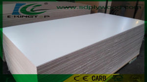 Warm White Melamine Paper Laminated Plywood 6mm for furniture pictures & photos