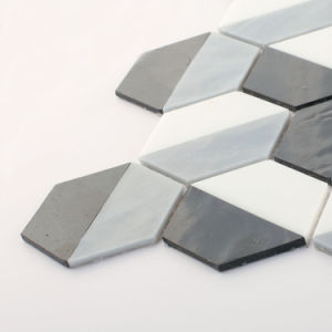 Europe Building Wall Black and White Glass Mosaic Floor Tile pictures & photos
