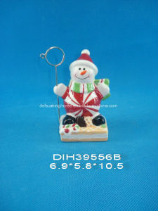 Hand-Painted Ceramic Snowman Business Card Holder pictures & photos