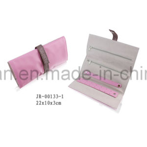 Fashion Multi-Function Light Purple Leather Travel Jewelry Packaging Jewelry Roll pictures & photos