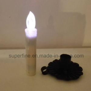 Soft Flickering Small Battery Operated Living Room Use Flameless Imitation Dripping LED Taper Candle pictures & photos