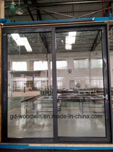 Woodwin Top Quality Double Tempered Glass Thermal Break Aluminum Sliding Door pictures & photos
