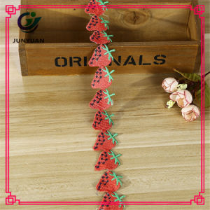 Fashion Polyester Strassberry Pattern Decorative Lace Trim pictures & photos