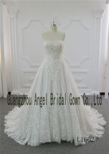 Newest Model Brand Name Floor Length Empire Wedding Dresses pictures & photos